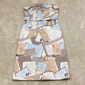 J.CREW Novelty Postcard Love Letter Dress